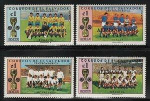 El Salvador 1974 Soccer Champions Overprint set Sc# C325-40 NH