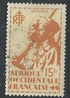 French West Africa + Scott # 34 - Used