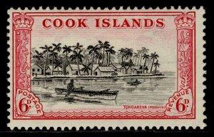 COOK ISLANDS GVI SG155, 6d black & carmine, M MINT.