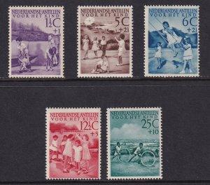 Netherlands Antilles  #B10-B14  MH 1951  child welfare