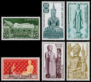 Laos Scott C7-C12 (1953) Mint VLH VF Complete Set C