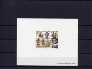 FSAT TAAF 1992  500th.Ann.Disc.America Columbus-Ships  DELUXE Souvenir Sheet MNH