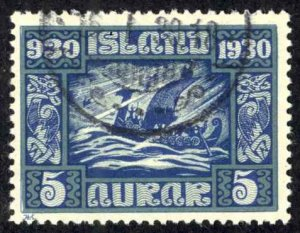 Iceland Sc# 153 Used 1930 5a Definitives