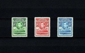 BASUTOLAND - 1937 - KG VI - CROCODILE & RIVER SCENE - # 18 - 20 - MNH SINGLES!