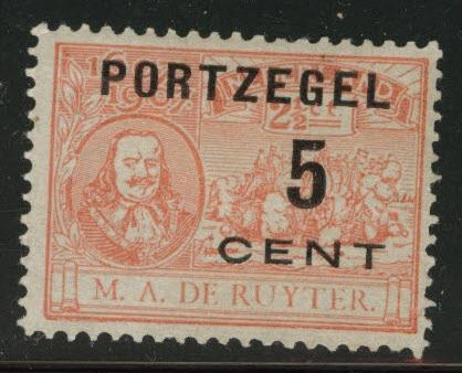 Netherlands Scott J33 postage due 1907 MH*