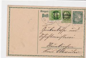 bavaria 1919 stamps card ref 20623