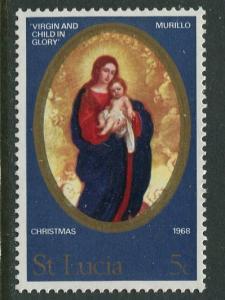 St. Lucia - Scott 237- Christmas -1968 - MNH -Single 5c Stamp