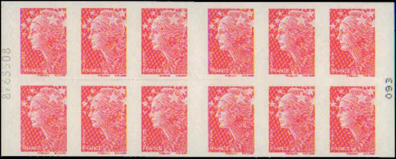2008 France #3471c, Booklet Pane of 12, Never Hinged