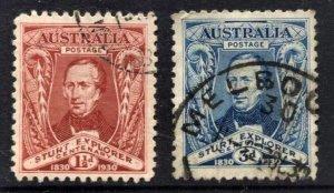 STAMP STATION PERTH  Australia #104-105 Sturt Set Used - CV$12.00