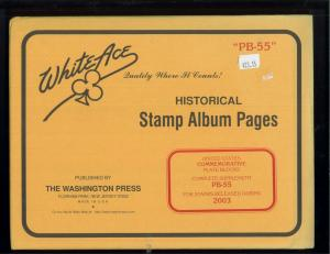 2003 White Ace U.S Commemorative Issue Plate Block Stamp Supplement Pages PB-55