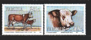 Namibia. 1993. 740-41 from the series. Pets. MNH.
