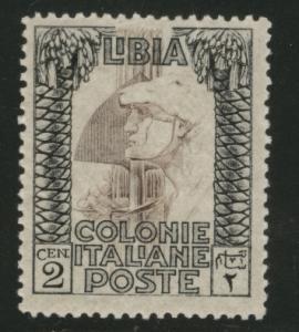 LIBYA Scott 48 MH*no watermark, 1924 yellow gum