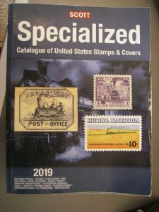2019 SCOTT UNITED STATES SPECIALIZED STAMP CATALOGUE OF STAMPS & COVERS