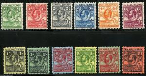 FALKLAND ISLANDS  SET SCOTT#54/64 SG#116/26 MINT EXTREMELY LIGHT HINGED
