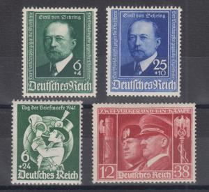Germany Sc B186-B189 MNH. 1940-1941 Semi-Postals, 3 complete sets, VF