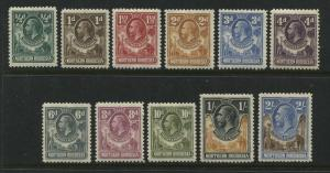 Northern Rhodesia KGV 1925 values to 2/ mint o.g.