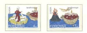 Faroe Islands Sc 264-5 1994 Europa St Brendan stamp set