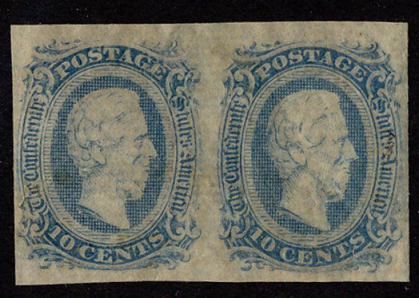 US #CONFED US #11 VF/XF mint hinged, PAIR, super select,  four nice margins, ...