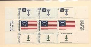 United States,1347-49,Historic Flags Mail Early Blks(6), MNH