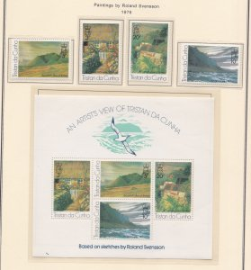 Tristan Da Cunha # 209-212 & 212a, Paintings by Roland Svensson, NH, 1/2 Cat.