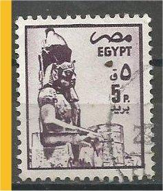 EGYPT, 1985, used 5m, Seated statue, Scott 1276