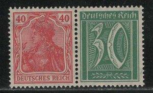 Germany Scott # 124, 141, mint nh, se-tenant, Mi# W18