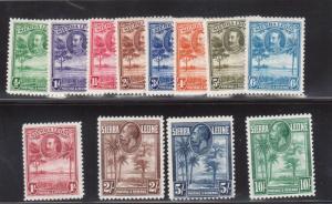 Sierra Leone #140 - #151 Mint Fine - Very Fine Lightly Hinged