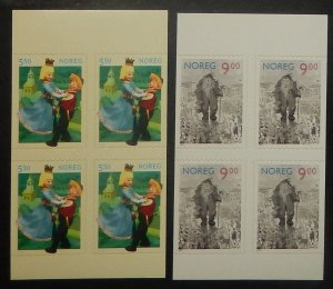 Norway 1329-30. 2002 Fairy Tales, booklet panes of four, NH