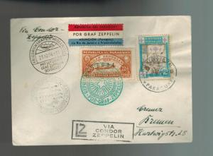 1934 Paraguay Graf Zeppelin Cover to Bremen Germany  LZ 127