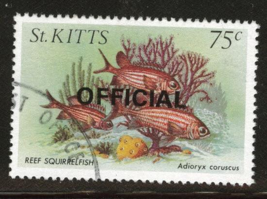 St Kitts Scott o36 used 1984 Official stamps CV$1.40