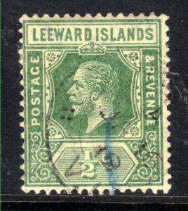 Leeward Islands 1912 - 22 KGV  1/2d Yellow Green SG 47 ( L426 )