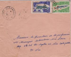 Cameroun 5F Spiny Lobster and 15F Common Pike 1969 Dizangue, Cameroun Airmail...