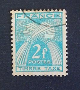 France, 2 F, Wheat Sheaves, 1946-1953 (7- 2F-2IR)