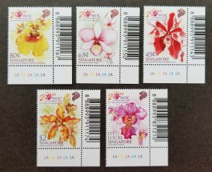*FREE SHIP Singapore 20th World Orchid Conference 2011 Flower (stamp plate) MNH