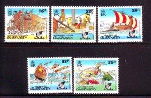 Guernsey Sc 498-502 1992 Operation Asterix stamp set mint NH