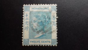Hong Kong Queen Victoria 12 cents Used