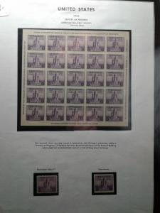 SCOTT #731 AMERICAN PHILATELIC SOCIETY SOUVENIR SHEET NGAI MINT NEVER HINGED GEM