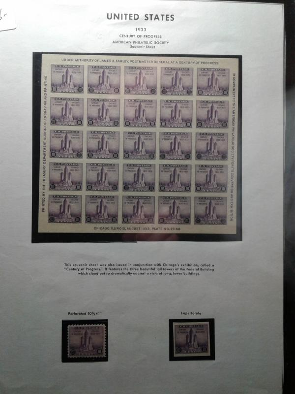 SCOTT #731 AMERICAN PHILATELIC SOCIETY SOUVENIR SHEET NGAI MINT NEVER HINGED GEM