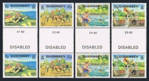 Guernsey 232-235 gutter,MNH.Michel 237-240. Year of the Disabled,1981.