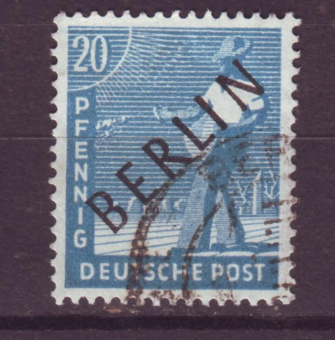 J17534 JLstamps 1948 germany berlin occup,t used #9n8 ovpt