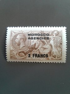 British Offices in Morocco (French Currency) 410 VF MLH - Scott $8.50