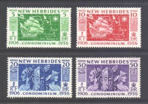 Vanuatu New Hebrides Scott 78/81 - SG80/83, 1956 Anniversary Set MH*
