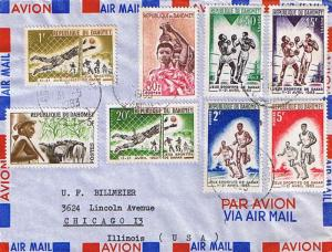 Dahomey 5F Peuhl Herdsman and Cattle, 30F Nessoukoue Women Carrying Vases on ...