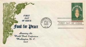 United States, First Day Cover, Food