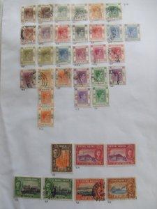 Hong Kong GVI set to $10 & 1941 set