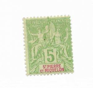Saint Pierre & Miquelon #64 MH - Stamp - CAT VALUE $6.00