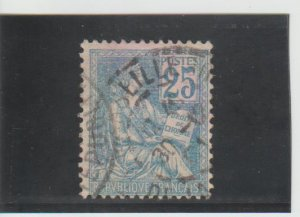 France  Scott#  119  Used  (1900 the Rights of Man)