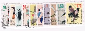 Israel 1133-46 Set Used Birds (I0015)