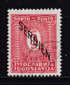 Serbia a 3d WW2 postage Due fine used (CTO)
