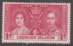 Leeward Islands 100 Hinged 1937 KGVI Coronation